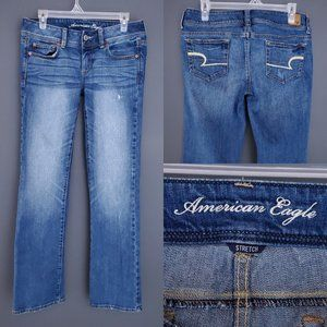 AMERICAN EAGLE Slim Boot Jeans Stretch Low Rise 8